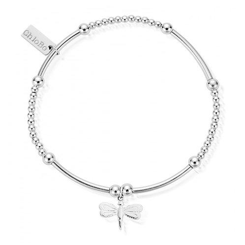ChloBo Silver Cute Mini Dragonfly Bracelet - SBCM402