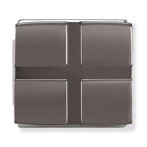 Nomination Mens IKON Stainless Steel Gunmetal Cross pattern Charm - 230102/03