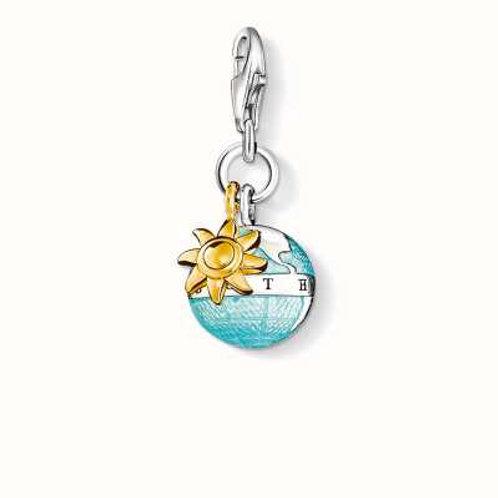 Thomas Sabo Silver World Sunshine Charm - 0923-427-1