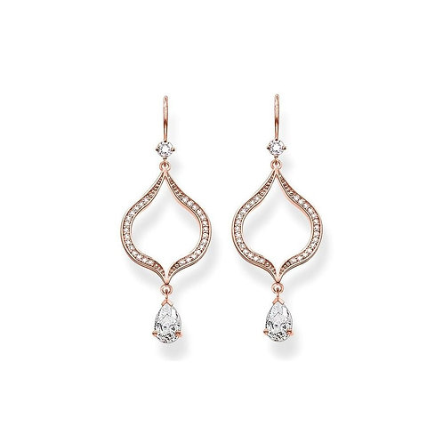 Thomas Sabo Purity of Lotus Rose Gold Plated Earrings - H1841-416-14