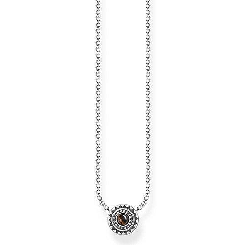 Thomas Sabo Sterling Silver Ethno Tiger's Eye Necklace - KE1672