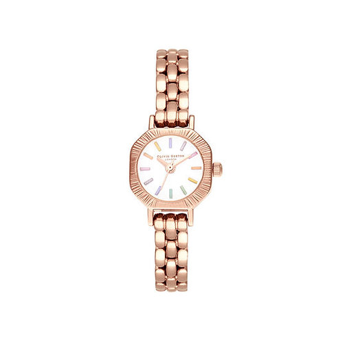 Olivia Burton Rainbow Pale Rose Gold Watch - OB16CC50