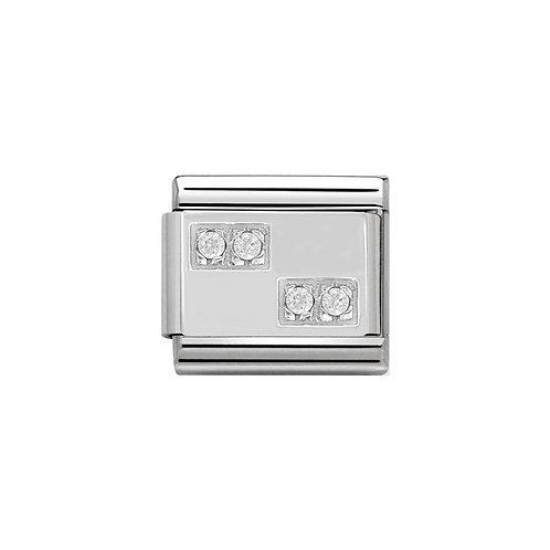Nomination Silvershine CZ Charm Link - 330304/08
