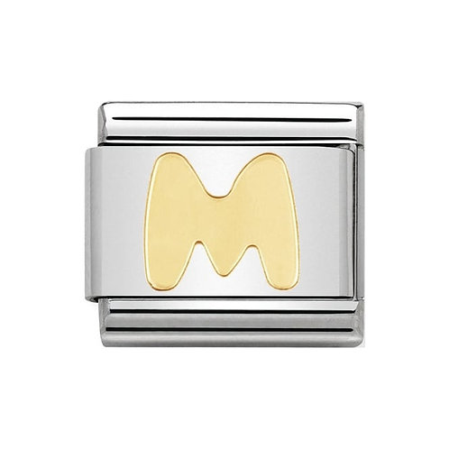 Nomination Gold Initial M Charm Link -030101/13