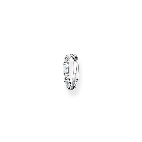 Thomas Sabo CZ Silver Hoop Single Earring - CR666-051-14