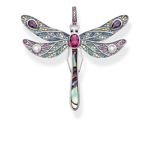 Thomas Sabo Sterling Silver Colourful Dragonfly Pendant - PE827-998-7