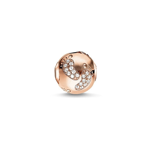Thomas Sabo Karma Rose Gold Tone Baby Footprints Bead Charm -K0156-416-14