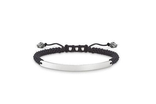 Thomas Sabo Silver Black Skull Bracelet - LBA0069-889-11-L21v