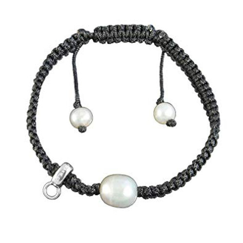 Thomas Sabo Single Pearl Woven Nylon Charm Bracelet - X0164-170-11