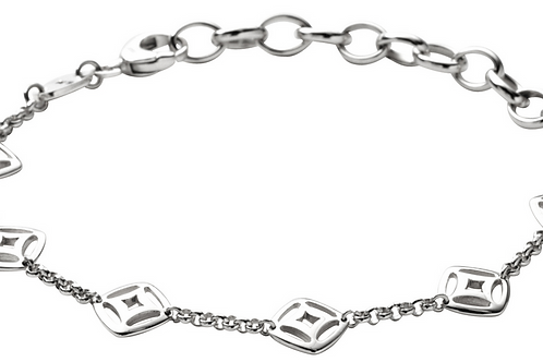 Fossil Women's Stainless Steel Fancy Bracelet