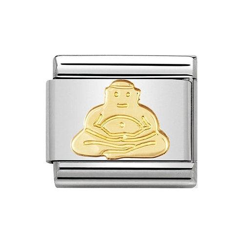 Nomination Gold Buddha Charm Link - 030105/06