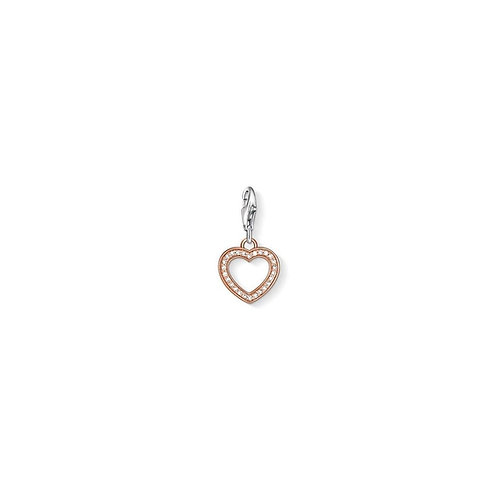 Thomas Sabo Silver Rose Gold  Charm - 0953-416-14