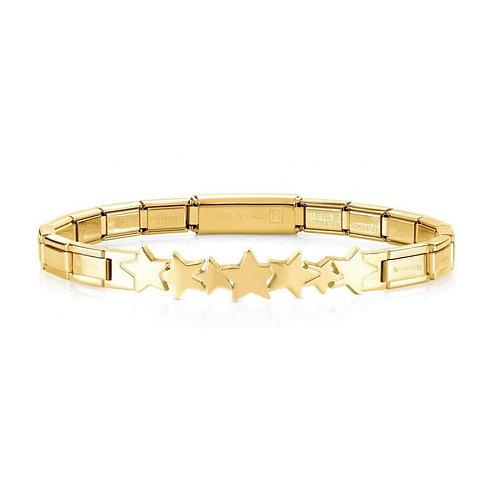 Nomination Trendsetter Stars Symbol Yellow Gold Bracelet 021111/005