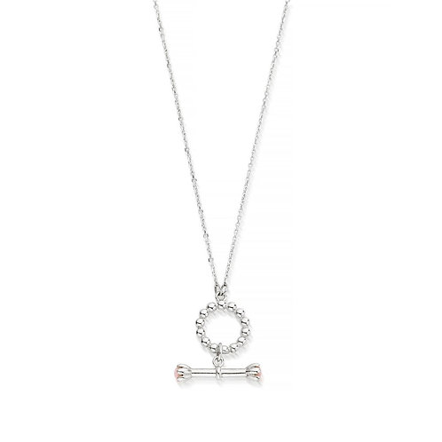 ChloBo Sterling Silver Everyday Magic Pink Opal Necklace - SN2080