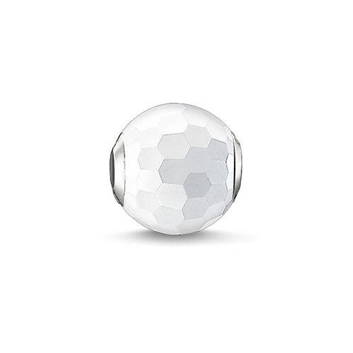 Thomas Sabo Karma Faceted White Agate Stone Charm -K0126-130-14