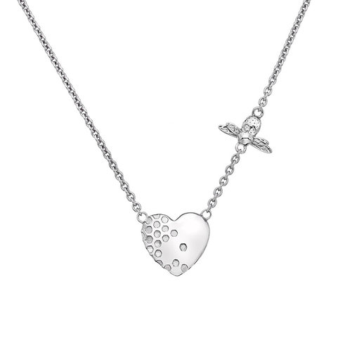 Hot Diamonds Honey Bee Heart Stirling Silver Necklace - DN145