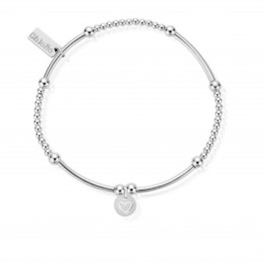 ChloBo Cute Mini Love Heart in Circle Charm Bracelet - SBCM009