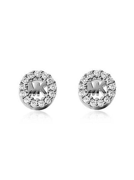 Michael Kors Sterling Silver Custom Logo Earrings