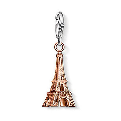 Thomas Sabo Silver Rose Gold Eiffel Tower Charm -0965-415-12