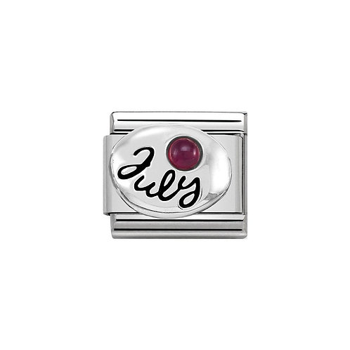 Nomination Silvershine July Birthstone Charm Link - 330505/07