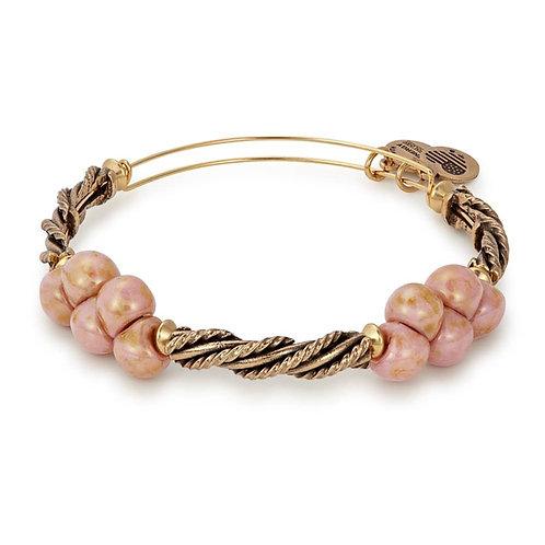 Alex and Ani Rafaelian Gold Pink Spirit Spiral Bangle -A17EBSPCRG