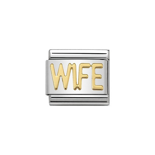 Nomination Gold WIFE Charm Link - 030107/23