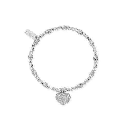 ChloBo Sterling Silver Shining Heart Bracelet - SBLMC3058