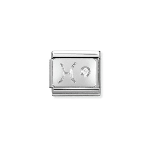 Nomination Silvershine Starsign Pisces CZ Charm Link - 330302/12