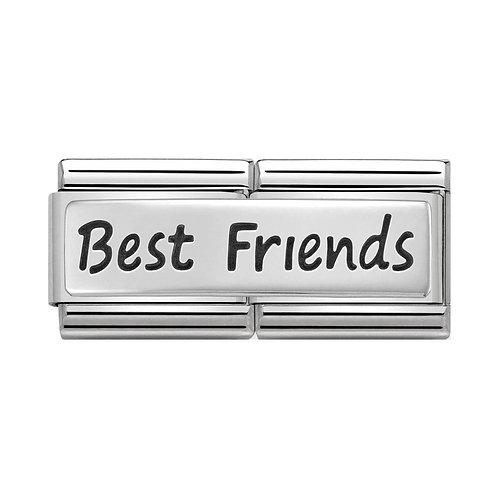 Nomination Silvershine Best Friends Double Charm Link - 330710/03