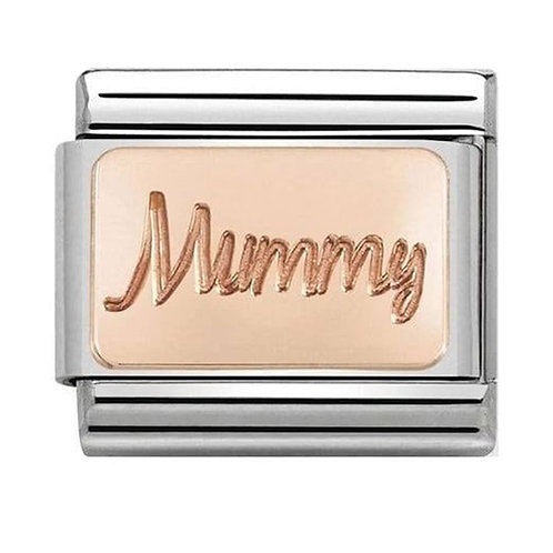 Nomination Rose Gold Mummy Plate Charm Link - 430101/42