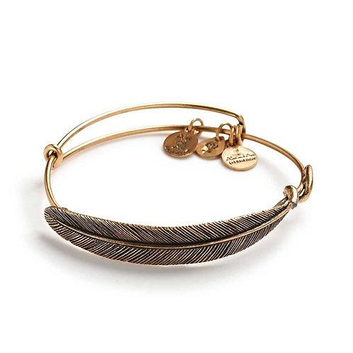 Alex and Ani Rafaelian Gold 'Quill Feather' Charm Bangle - A09EB130RG