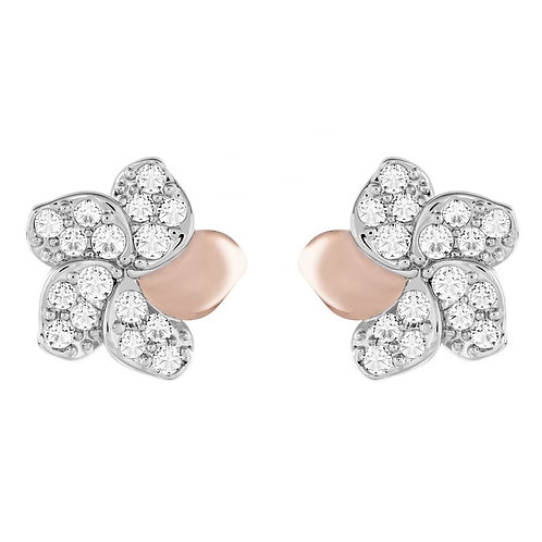 SWAROVSKI Clear Crystal Flower Crystal Pearl Reversible Stud Earrings - 5110672
