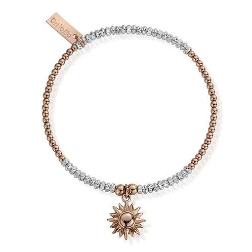 ChloBo Silver Two Tone Sparkling Sun Bracelet - MBCRDB579