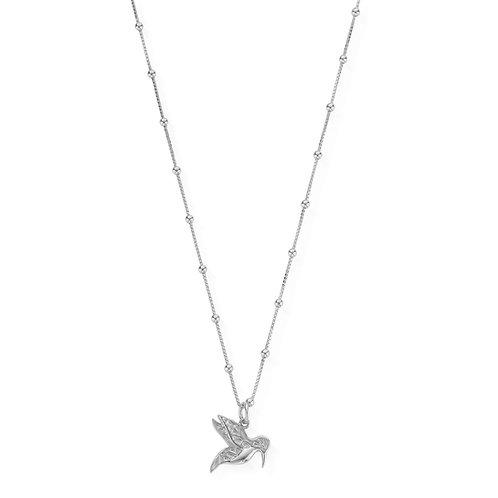 ChloBo Sterling Silver Bobble Chain Hummingbird Necklace - SNBB670