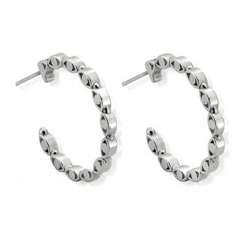 ChloBo Silver Evil Eye Protection Stud Earrings - SEH493