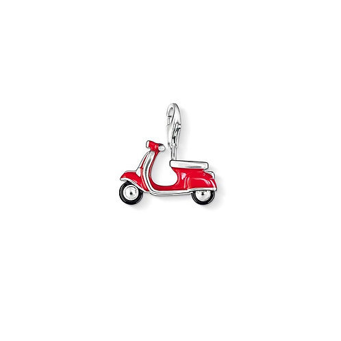 Thomas Sabo Sterling Silver Red Scooter Charm - 0827-007-10