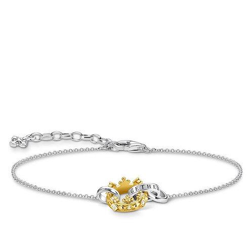 Thomas Sabo Gold Crown Together Forever Bracelet - A1982-849-14