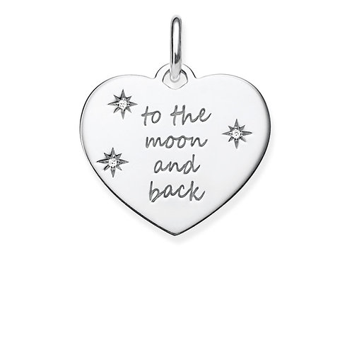 Thomas Sabo Silver To The Moon and Back Heart Pendant - LBPE0020-051-21