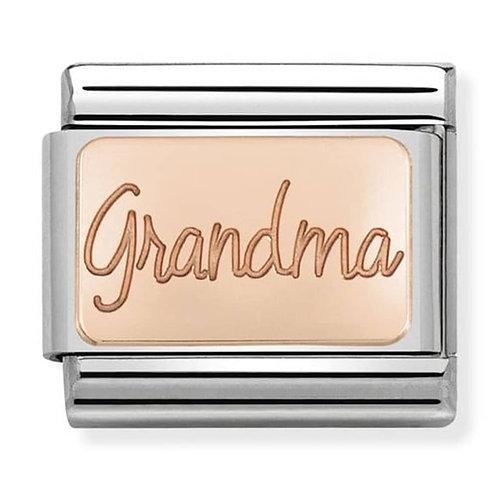 Nomination Rose Gold Grandma Plates Charm Link - 430101/36
