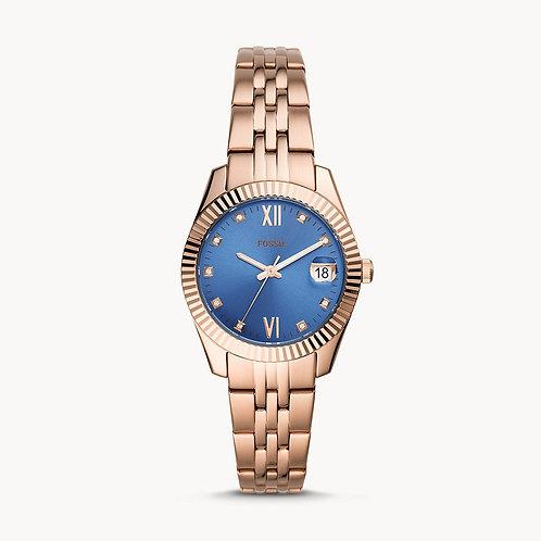 FOSSIL Scarlette Mini Blue Face three hand Ladies Watch - ES4901