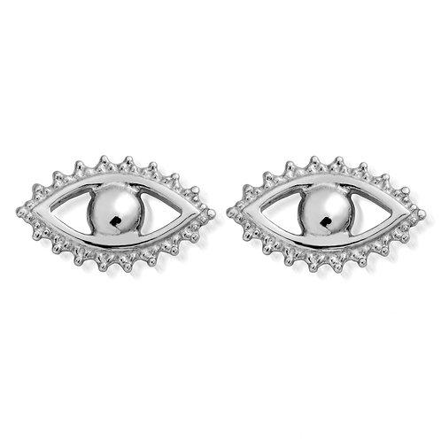 ChloBo Silver Protection Eye Evil Stud Earrings - SEST497