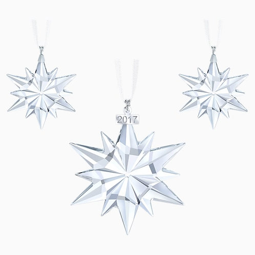 SWAROVSKI 2017 Christmas Set of Snowflake Ornaments