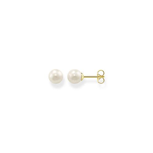 Thomas Sabo Gold Tone Pearl Ear Stud - H1430-430-14