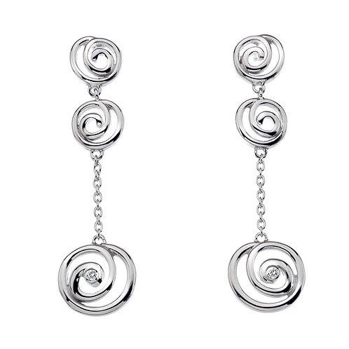 Hot Diamonds Sterling Silver Eternity Spiral Drop Earrings