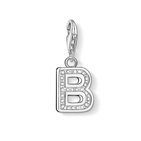 Thomas Sabo Silver CZ Letter B Charm - 0224-051-14