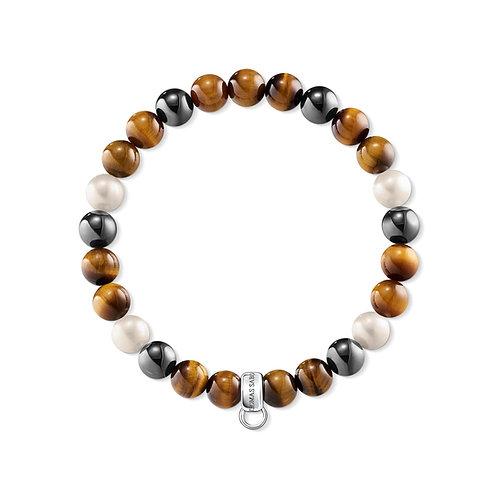 Thomas Sabo Charm Club Tigers Eye Bead Bracelet - X0218-948-2