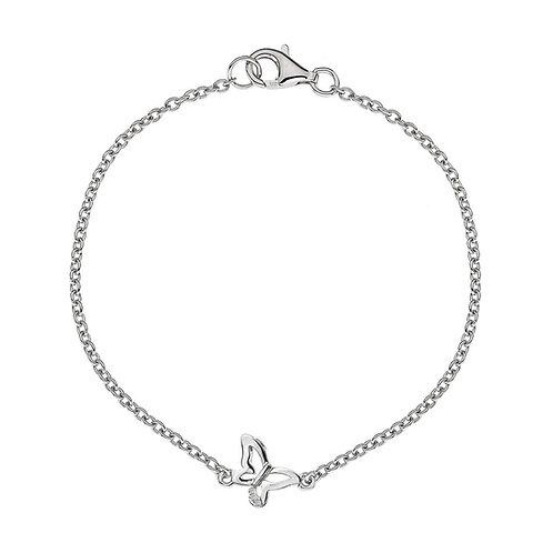 Hot Diamonds Sterling Silver Micro Butterfly Bracelet
