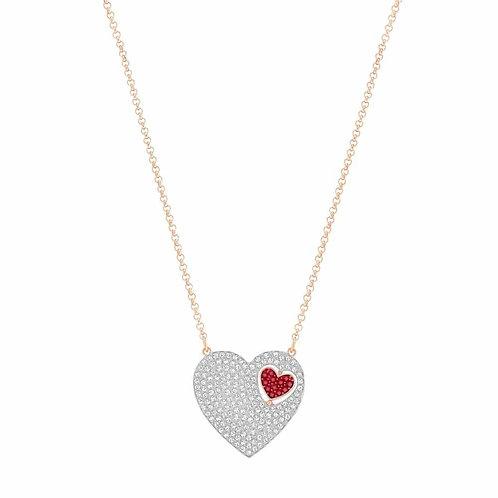 SWAROVSKI Sparkling Great Rose Gold Plated Heart Necklace - 5272346