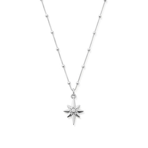 ChloBo Sterling Silver Bobble Chain Lucky Star Necklace - SNBB2066