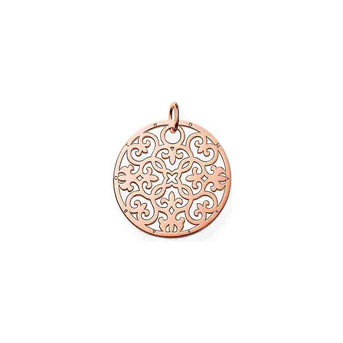 cThomas Sabo Sterling Silver Rose Gold Large Arabesque Pendant - PE431-415-12